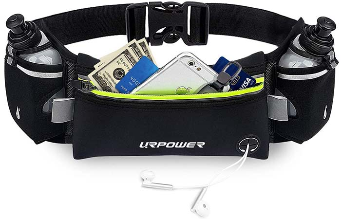 URPOWER Upgraded Running Belt with Water Bottle
