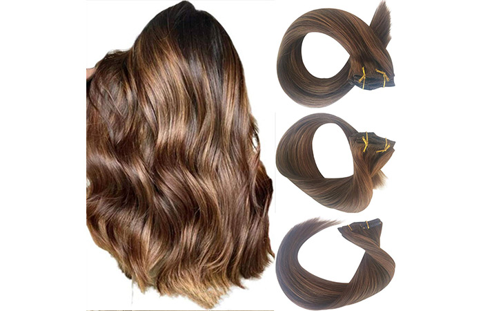 Valiilo Brown Balayage Clip-In Hair