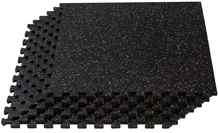 Velotas Thick Interlocking Rubber Personal Fitness Mat