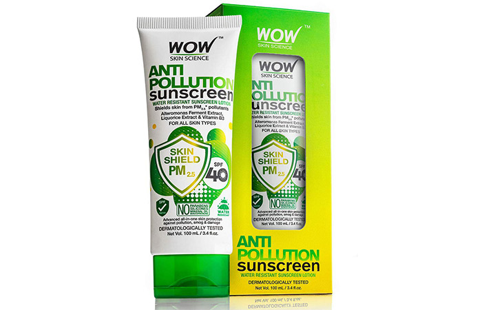 WOW anti-pollution sunscreen