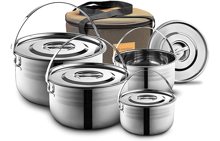 Wealers Stainless Steel Camping