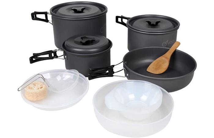 Yodo Anodized Aluminium Camping Cookware