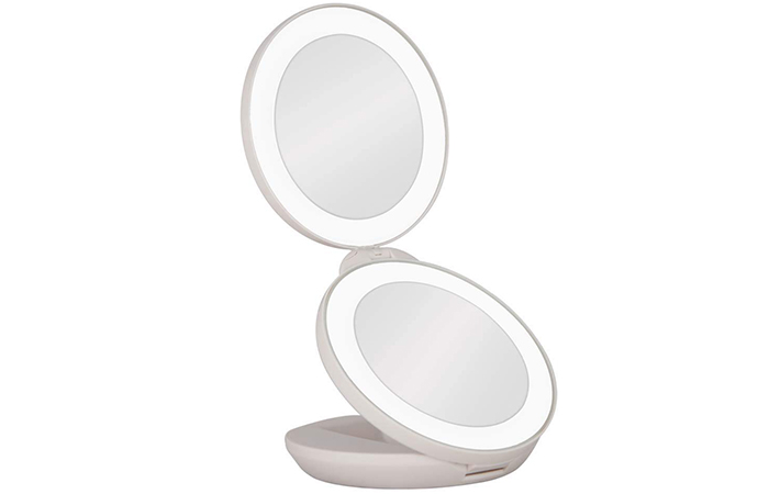 Zadro Dual LED Magnification Travel Mirror