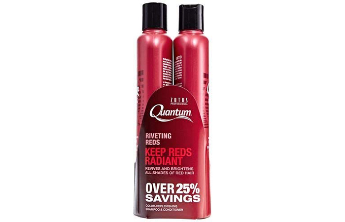 Zotos Quantum Riveting Reds Color-Replenishing Shampoo – Best Daily Shampoo For Red Color-Treated Hair