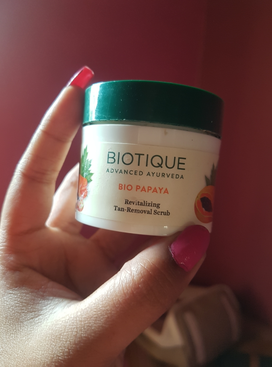 Biotique Bio Papaya Revitalizing Tan Removal Scrub-For all skin types-By jipshatravelfre