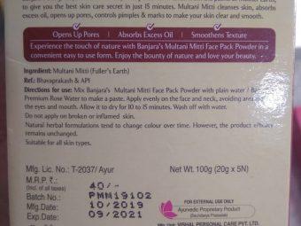 Banjaras Multani Mitti Face Pack Powder pic 1-Ever Time Favourite skincare product-By sukanyapulakkal