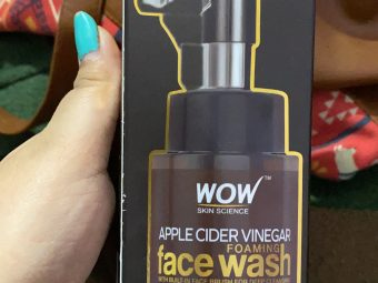 WOW Skin Science Apple Cider Vinegar Foaming Face Wash -Cleanses skin-By shachi_sharma