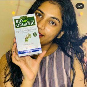 Indus Valley Bio Organic Indigo Leaf powder for Hair Coloring -Ok-By shilpasunil_