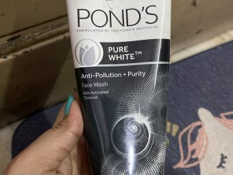 Ponds Pure White Anti Pollution + Purity Face Wash -Prevents face from pollution-By shachi_sharma