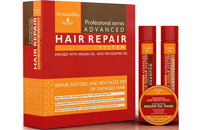 Arvazallia Advanced Hair Repair Shampoo And Conditioner With Hair Mask