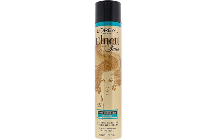 Best Anti-Humidity Hairspray For Curly Hair L'Oreal Paris Elnett Satin Extra Strong Hold Hairspray