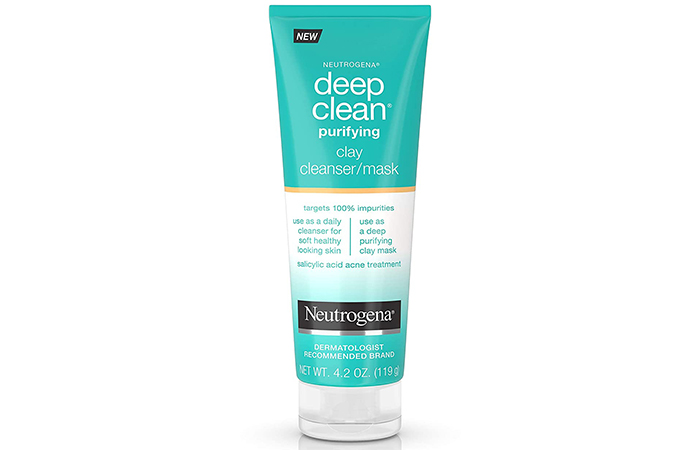 Best Dual-Purpose Mask: Neutrogena Deep Clean Purifying Clay Face Mask
