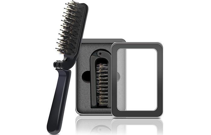 Best Hairbrush For Travel: Aozzy Travel Folding Hair Brush
