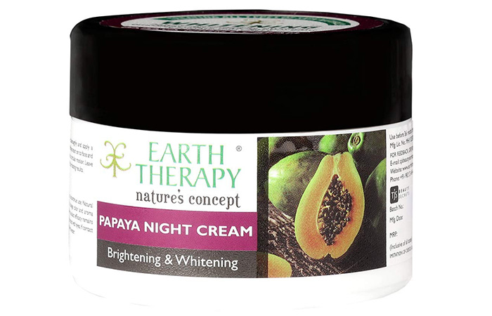 EARTH THERAPY Whitening & Brightening Papaya Night Cream