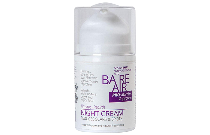 BAREAIR Night Cream with Protein & Vitamins