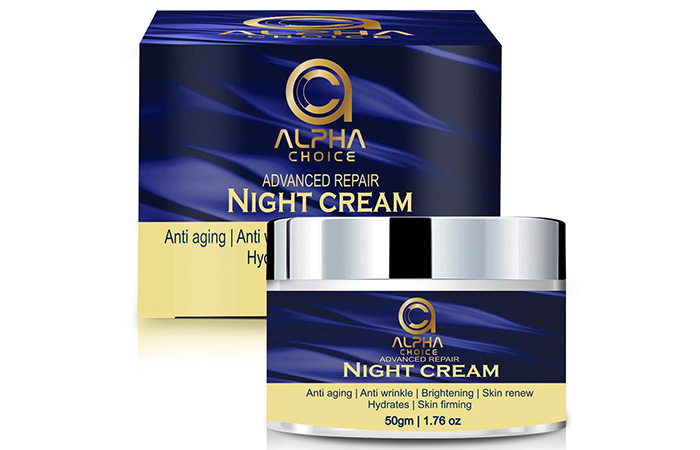 ALPHA CHOICE Night Cream for women and men, Anti aging face Cream