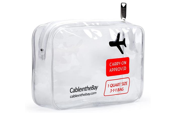 CableintheBay Airport-Compliant Cosmetics And Toiletry Bag
