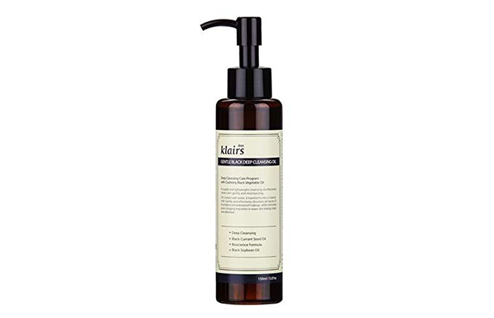 Clairs Gentle Black Deep Makeup Cleansing Oil
