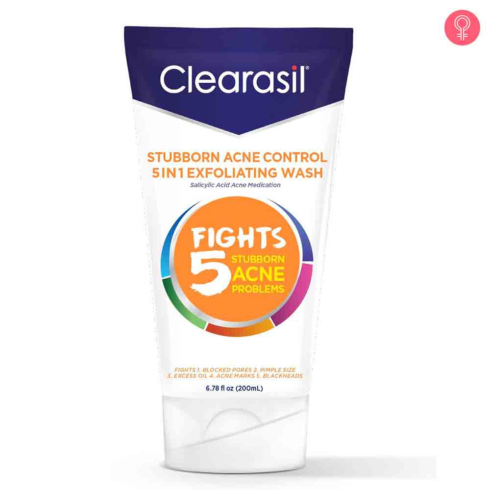 Clearasil Stubborn Acne Control 5-In-1 Exfoliating Wash