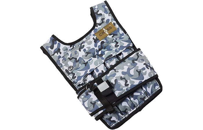 Cross101 Arctic Camouflage Adjustable Weighted Vest – 20lbs