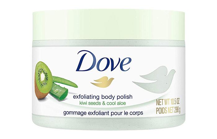 Dove Body Wash Kiwi and Aloe Exfoliating Body Polished Body Scrub