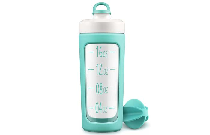 Ello Splendid Glass Shaker Bottle