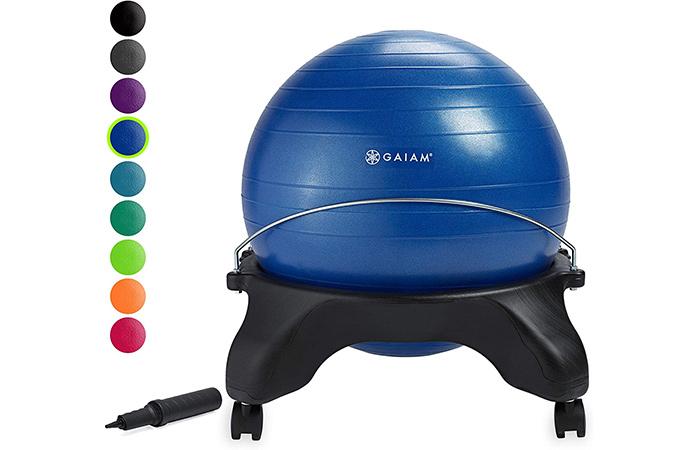 Gaiam Classic Backless Balance Ball Chair