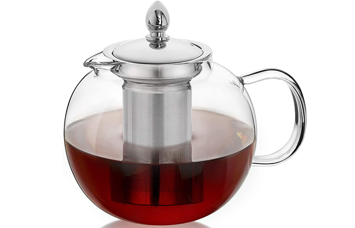 Hiware Large Glass Teapot Kettle With Infuser