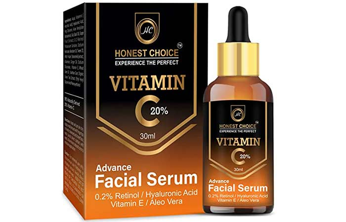 Honest Choice Vitamin C Serum with Retinol N Hyaluronic Acid for Face
