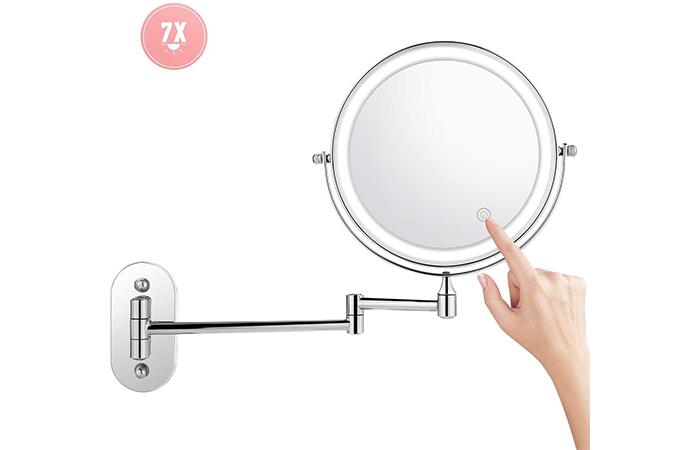 Jukert Wall-Mount Makeup Mirror Lighted