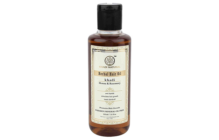 Khadi Natural Rosemary And Henna Hair Oil