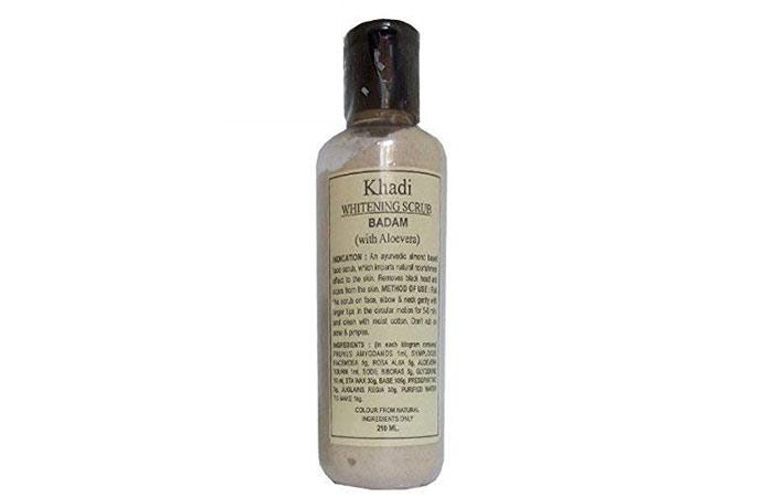 Khadi whitening scrub, almond with aloe vera