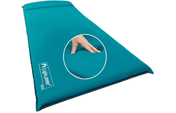 Light speed Outdoors XL Super Plush Flex Form Camp Foam Pad