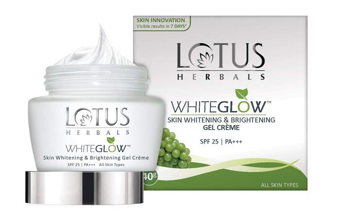 Lotus Herbals Whiteglow Skin Whitening Brightening Gel Cream