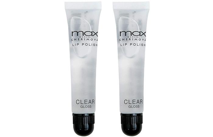 MAX Makeup Cherimoya Lip Polish Clear Gloss - Original