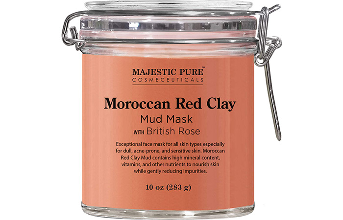 Majestic Pure Moroccan Red Clay Mud Mask