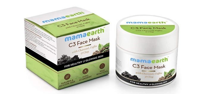 Mamaarth Charcoal Coffee Clay Face Mask
