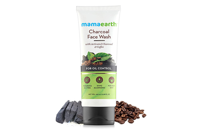 Mamaarth Charcoal Natural Face Wash for Oil Control and Pollution Defense