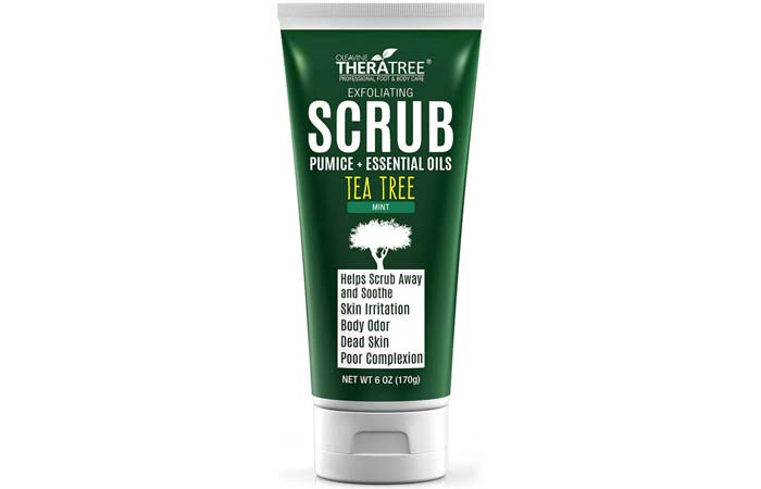 Oleavine TheraTree Tea Tree And Mint Exfoliating Scrub