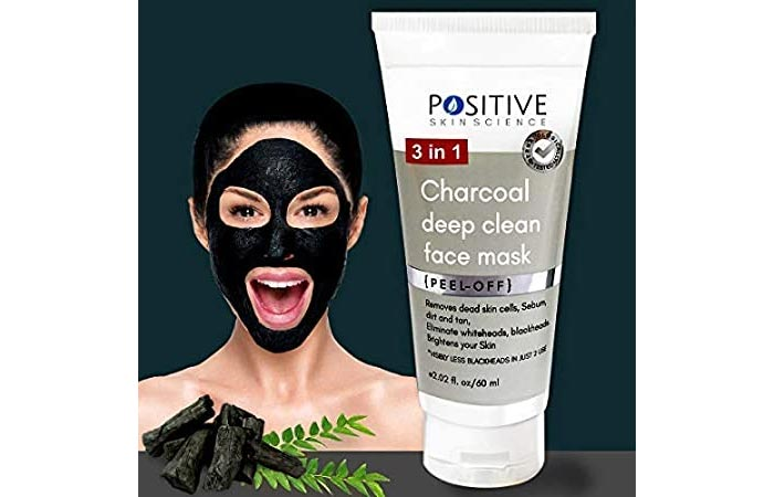 Positive 3 in 1 Activated Charcoal Deep Clean Peel of Mask