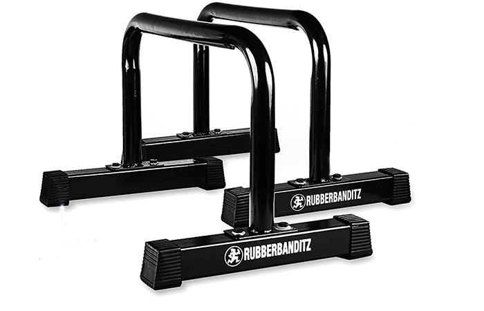 Rubberbanditz Parallettes Push Up & Dip Bars