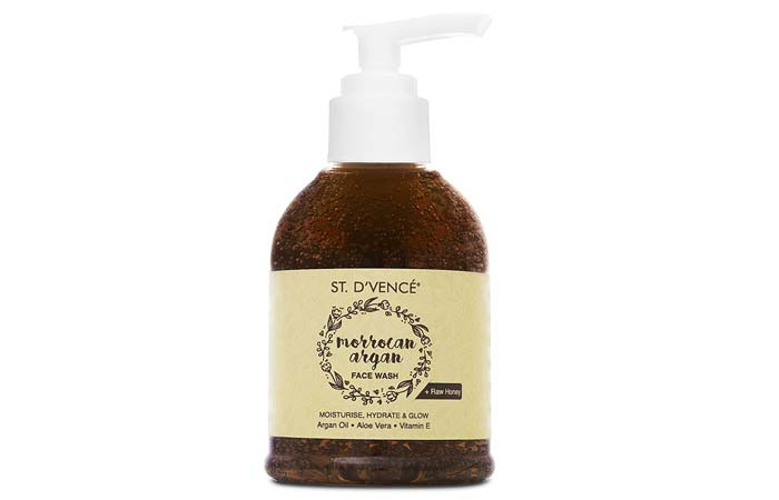 ST DVENCE Moroccan Argan Oil and Raw Honey Face Wash