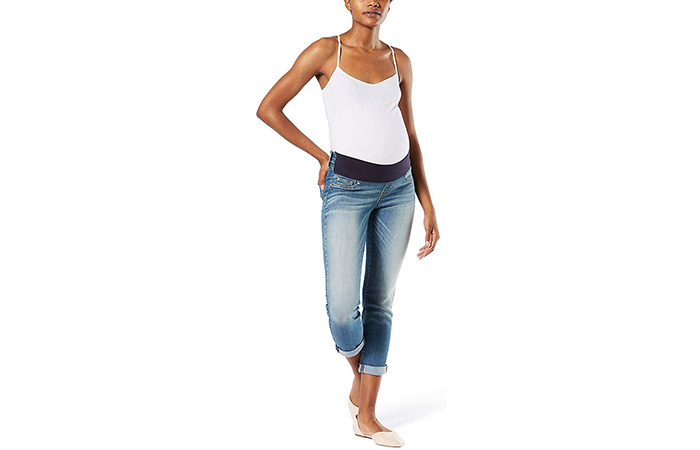 Signature by Levi Strauss & Co. Gold Label Women's Maternity Slim Boyfriend Jeans (2)