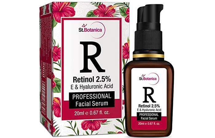 St. Botanica Retinol 2.5% + Vitamin E, C and Hyaluronic Acid Professional Facial Serum