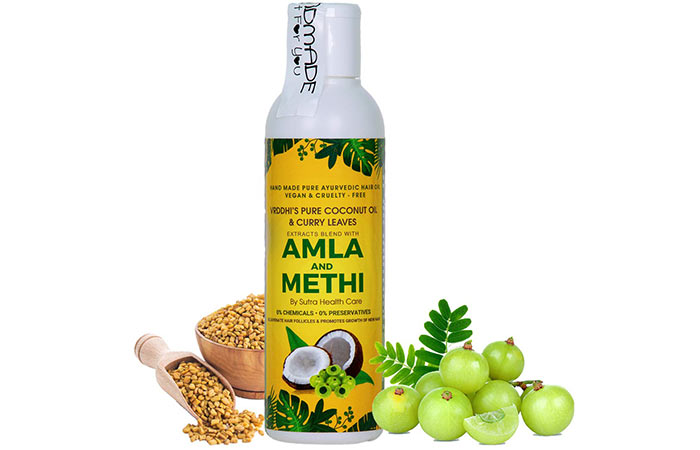 Vikas Organic Amla Hair Oil With Methi And Curry Leaves
