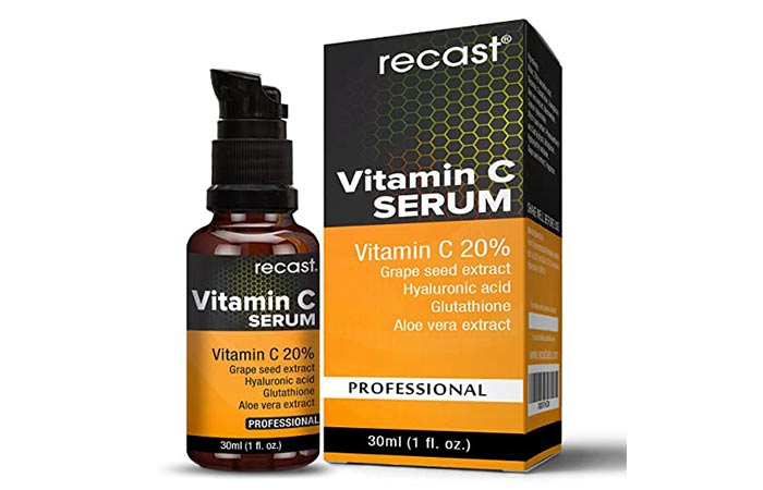 Vitamin C serum hyaluronic acid and glutathione for face from rest