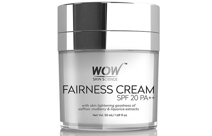 WOW Fairness SPF 20 PA++ No Parabens & Mineral Oil Cream