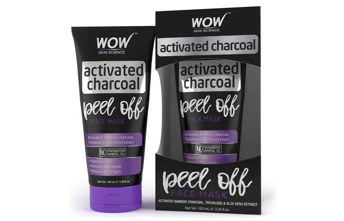 Wao Skin Science Activated Charcoal Peel Of Face Mask