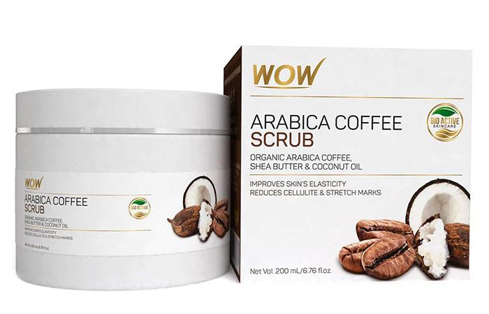 Wao arabica coffee no parabens and mineral oil scrub