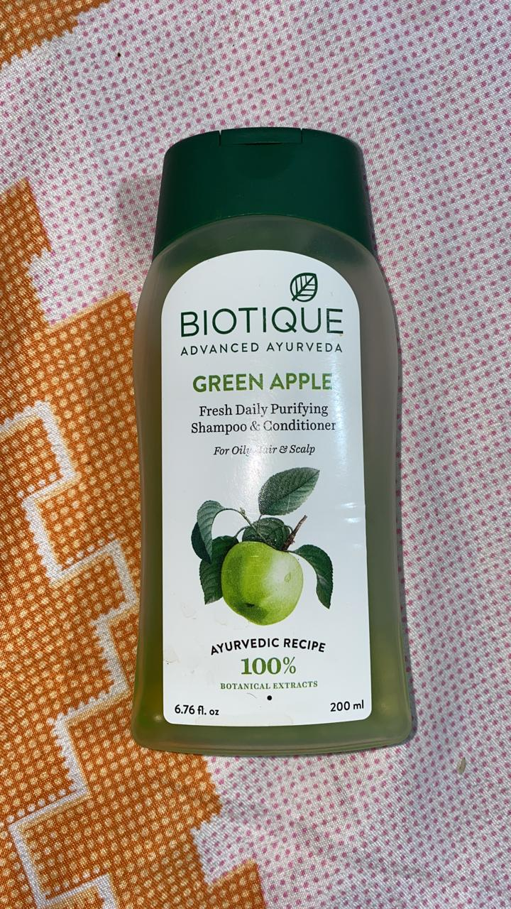 Biotique Bio Green Apple Fresh Daily Purifying Shampoo & Conditioner -Hydrates scalp-By shachi_sharma